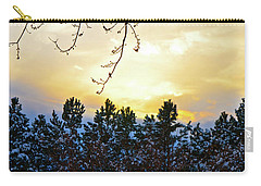 Winter Sunset On The Tree Farm #2 Carry-all Pouch