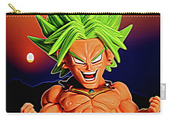 Carry-all Pouch featuring the digital art Sunset Ss Broly by Ray Shiu