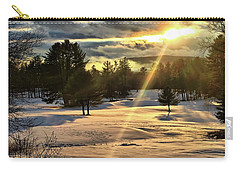 Winter Sunset Rays  Carry-all Pouch by Betty Pauwels