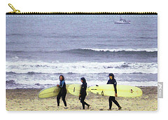 Winter Surfers Carry-all Pouch by Timothy Bulone