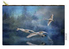 Winter Swans Carry-all Pouch by Brian Tarr
