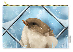 Carry-all Pouch featuring the painting Winter Sweetness  by Veronica Minozzi