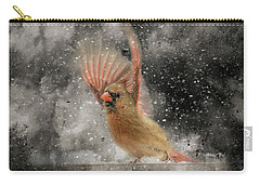 Winter Take Off Songbird Art Carry-all Pouch by Jai Johnson