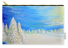 Carry-all Pouch featuring the painting Winter by Teresa Wegrzyn