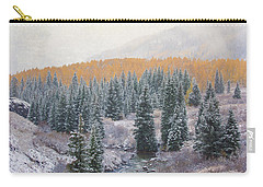 Winter Touches The Mountain Carry-all Pouch by Kristal Kraft