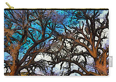 Carry-all Pouch featuring the photograph Winter Trees At Fort Tejon Lebec California Abstract by Floyd Snyder