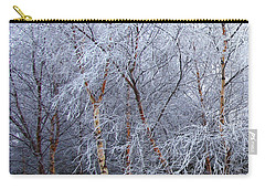 Carry-all Pouch featuring the photograph Winter Trees by Jacqi Elmslie