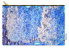 Winter Trees Carry-all Pouch by Ron Bissett