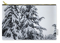 Carry-all Pouch featuring the photograph Winter Trekking-2 by Okan YILMAZ