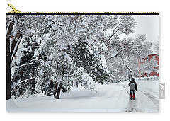 Carry-all Pouch featuring the photograph Winter Trekking-3 by Okan YILMAZ