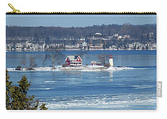 Winter View Of Crossover Island Carry-all Pouch