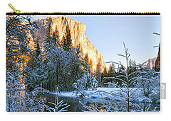 Winter View Of Yosemite's El Capitan Carry-all Pouch
