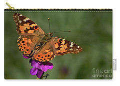 Carry-all Pouch featuring the photograph Winter Visitor by Debby Pueschel