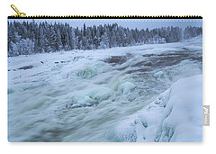 Winter Waterfall Carry-all Pouch by Tamara Sushko