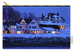 Carry-all Pouch featuring the photograph Winter Waterfront by James Kirkikis