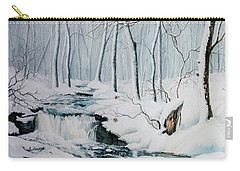 Carry-all Pouch featuring the painting Winter Whispers by Hanne Lore Koehler