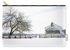 Carry-all Pouch featuring the photograph Winter White Out by Debra Fedchin