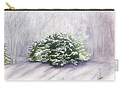 Carry-all Pouch featuring the painting Winter Wind by Melly Terpening