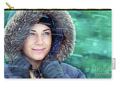 Winter Woman Portrait Carry-all Pouch