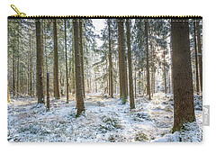 Carry-all Pouch featuring the photograph Winter Wonderland by Hannes Cmarits