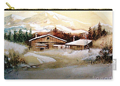 Carry-all Pouch featuring the painting Winter Wonderland  by Hazel Holland