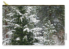 Carry-all Pouch featuring the photograph Winter Woodland by Will Borden