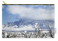 Carry-all Pouch featuring the photograph Organ Mountains Winter Wonderland by Kurt Van Wagner