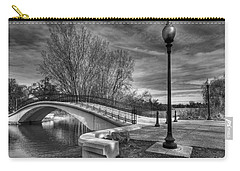 Carry-all Pouch featuring the photograph Winter's Bridge by Rodney Campbell