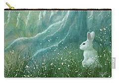 Carry-all Pouch featuring the digital art Winters Coming by Ann Lauwers