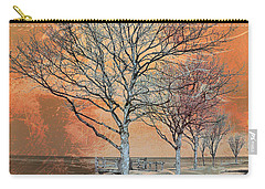 Carry-all Pouch featuring the photograph Winter's Dawn by Shawna Rowe