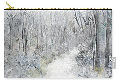 Carry-all Pouch featuring the painting Winter's Day by Robin Maria Pedrero