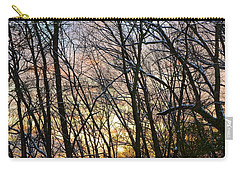 Carry-all Pouch featuring the photograph Winter's Delight by Corinne Rhode