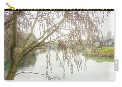 Carry-all Pouch featuring the photograph Winter's  End  by Connie Handscomb