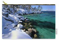 Carry-all Pouch featuring the photograph Winter's Gold by Sean Sarsfield