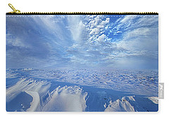 Carry-all Pouch featuring the photograph Winter's Hue by Phil Koch