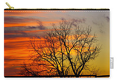 Carry-all Pouch featuring the photograph Winter's Scene by Donald C Morgan