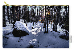 Carry-all Pouch featuring the photograph Winters Shadows by David Patterson