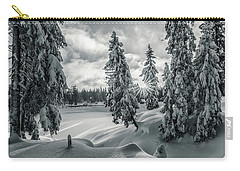 Winter Wonderland Harz In Monochrome Carry-all Pouch