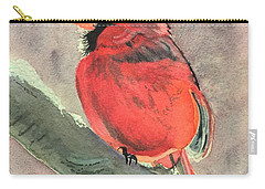 Wintery Red Carry-all Pouch