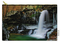 Wintery Waterfalls Crop Carry-all Pouch by Barbara Bowen