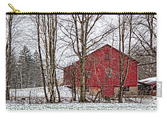 Carry-all Pouch featuring the photograph Wintry Barn by Skip Tribby