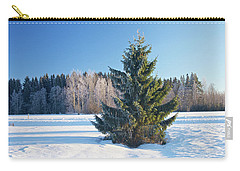 Wintry Fir Tree Carry-all Pouch