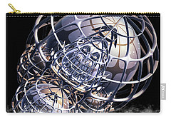 Carry-all Pouch featuring the digital art Wire Frame Fractal by Melissa Messick