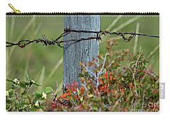 Carry-all Pouch featuring the photograph Wire Meets by Ann E Robson