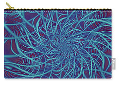 Wired In Blue Carry-all Pouch