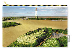 Carry-all Pouch featuring the photograph Wirral Lighthouse by Ian Mitchell