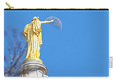 Wisconsin Capitol And Moon Carry-all Pouch