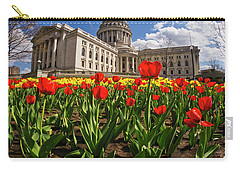 Wisconsin Capitol And Tulips 3 Carry-all Pouch