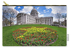 Wisconsin Capitol And Tulips Carry-all Pouch