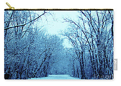 Wisconsin Frosty Road In Winter Ice Carry-all Pouch